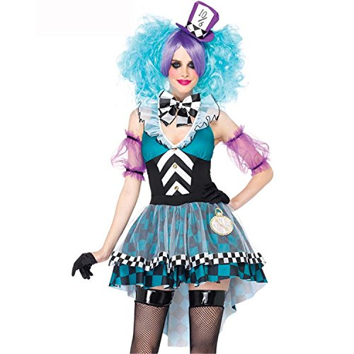 Sexy4Lady Women's Manic Mad Hatter Adult Costume