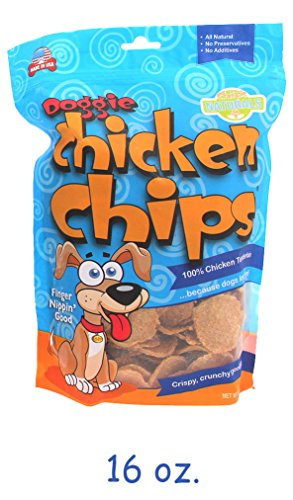 16 oz Doggie Chicken Chips - Stock Up & Save! Made in the USA, 100% Chicken (Chicken Stock 8oz compare prices)