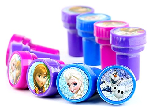 Disney Frozen Self-Inking stamps / Stampers Party Favors (10 Counts) - 1