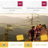 Wanderkarte Rothaarsteig Blatt Nord und Blatt Süd: Maßstab 1 : 50.000