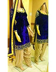 Latests Velvet Semistitch Dress Material