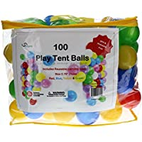 Pack Of 100 Phthalate Free Bpa Free Crush Proof Plastic Balls, Pit Balls 4 Bright Colors In Reusable And Durable...
