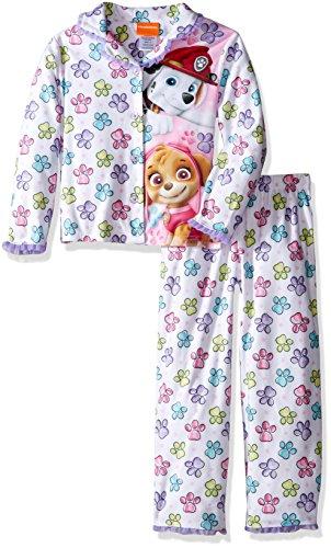 Nickelodeon Girls' Paw Patrol 2-Piece Pajama Coat Set