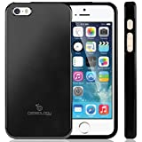 Caseology Matte Finish Slim Fit Flexible Hybrid TPU Case for Apple iPhone 5 (Matte Black)