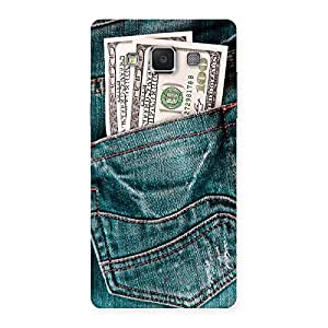 Stylish Money Money Colorful Jeans Back Case Cover for Samsung Galaxy A5