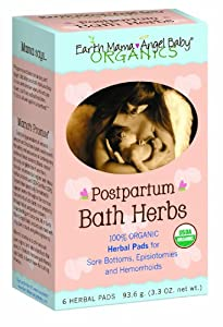 Earth Mama Angel Baby Postpartum Bath Herbs, 6 Count