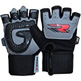 Authentic RDX Gel Weight Lifting Body Building Gloves Gym Strap Training Leather Grip