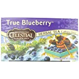Celestial Seasonings Herb Tea, True Blueberry, 20-Count Tea Bags (Pack of 6)