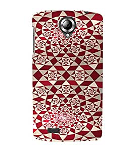 PrintVisa Red Diamond Pattern 3D Hard Polycarbonate Designer Back Case Cover for Lenovo S820