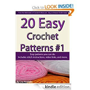 Crochet Stitches Amazon : 20 Easy Crochet Patterns Book 1 - Kindle edition by Lisa Hamblin ...