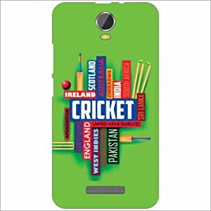 Micromax Canvas Juice 2 Back Cover - Silicon Cricket Teams Designer Cases
