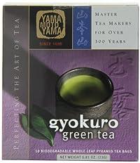 Yamamotoyama Gyokuro Green (Tea Pyramid Bag), 0.81-Ounce Boxes (Pack of 2)
