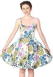 Unimod Women's Skater Dress (Multicolour, L)