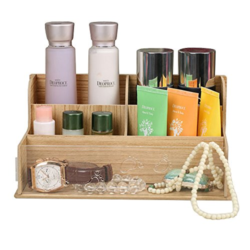 EtechMart Wooden Decorative Countertop Cosmetic Organizer Box Makeup Storage (Wooden Countertop Drawers compare prices)
