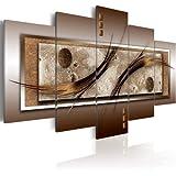 200x100 cm ! Grand Format Impression sur toile Images 5 Parties abstraction Tableau 020101-22 200x100 cm B&D XXL