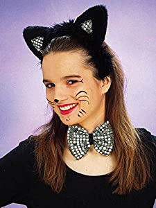 Zubehör zum Kostüm Katze Karneval Fasching Haarreif mit Ohren