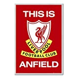 iPosters Liverpool Fc Poster This Is Anfield Cork Pin Memo Board Silver Framed - 96.5 X 66 Cms (approx 38 X 26 Inches)
