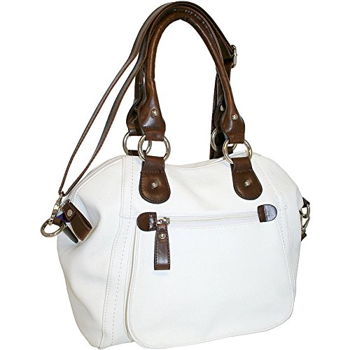 punto-uno-top-zip-satchel-with-cross-body-strap-white