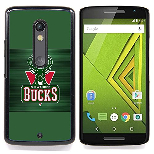 - Milwaukee Buck - - Copertura della cassa impatto con Art Pattern Design FOR Motorola Verizon DROID MAXX 2 / Moto X Play Queen Pattern