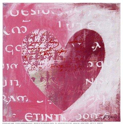 Heartfelt HIGH QUALITY MUSEUM WRAP CANVAS Print Anna Flores 7x7