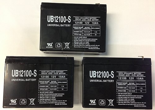 12V 10Ah Schwinn S500 Fs, S-500 Fs Scooter Battery - 3 Pack