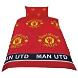 MANCHESTER UNITED MAN UTD FOOTBALL MUFC SINGLE BED DUVET QUILT COVER BEDDING SET