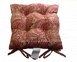 Gorgeous Franch Red Suede Chair Pad Chair Cushion Victoria s Deco from victoriasdeco.com