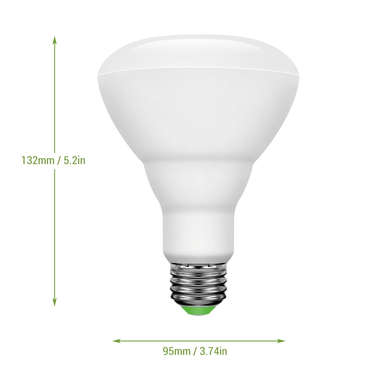 LE Smart Bluetooth LED BR30 Light Bulb, 10W Dimmable, Multi-Color Changing Lights, Smartphone Controlled RGBW Bulb, E26 Warm White, Compatible with iPhone, and Android