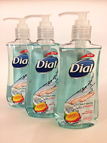 Dial Liquid Hand Soap Coconut Water and Mango 7.5 Oz (3pk) (Liquid Hand Soap Dial compare prices)