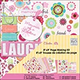 Me & My Big Ideas Me and My Big Ideas 8-Inch-by-8-Inch Page Kit, Chester/Pink