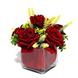 Beautiful Vase of Red Roses Gift for Valentine GIFTS110255 Romantic Valentine Gift,Valentine Gift for Him,Valentine Gift for Her,Valentine Gift for Boyfriend,Valentine Gift for Girlfriend,Valentine Gift for Husband,Valentine Gift for Wife