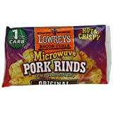 Lowrey's Bacon Curls, microwave Pork Rinds  (chicharrones), original,  1.75-Ounce Packages, 18 Count ~ Lowrey's