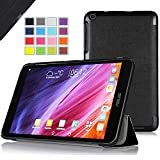 IVSO ASUS MeMO Pad 8 ME181C Ultra Lightweight Slim Smart Cover Case with Auto Sleep/Wake Function-(Lifetime Warranty)-will only fit ASUS MeMO Pad 8 ME181C Tablet (Black)