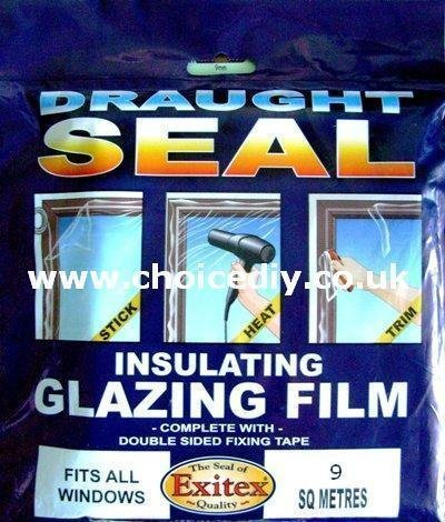 Insulating Film for Windows, Transparent Glazing Film 9.0m2 (6m x 1.5m)