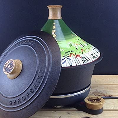 Netherton Foundry Shropshire Cast Iron Slow Cooker With Meadow Flower Green Tagine Lid from Netherton Foundry Shropshire