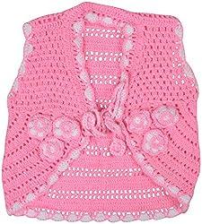 AKHIL & AARNA Girls' Wool Jacket (AA-2016-0137, Pink, 3-4 Years)