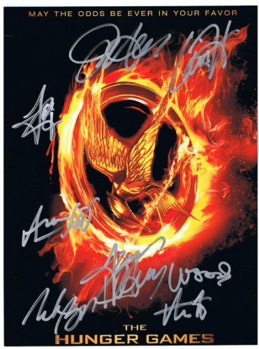 The Hunger Games Authentic Cast Signed 8x10 Autograph Photo - Jennifer Lawrence, Josh Hutcherson, Liam Hemsworth, Amandla Stenberg, Lenny Kravitz, Woody Harrelson, Alexander Ludwig and Elizabeth Banks