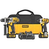 DEWALT DCK290L2 20-Volt MAX Li-Ion 3.0 Ah Hammer Drill and Impact Driver Combo Kit