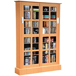 Atlantic 94835722 WindoPanes 576 Media Cabinet - Maple P2