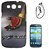 DMG Night Glow Hard Back Cover Case For Samsung Galaxy S3 Neo GT-I9300I (Heart) + Black Earphones + Matte Screen...