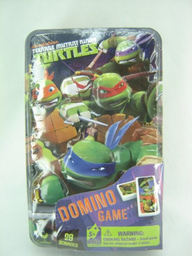Teenage Mutant Ninja Turtles Dominos Game Set In Metal Tin