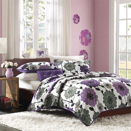 Mizone Anthea Coverlet Set - Purple - Twin front-876142