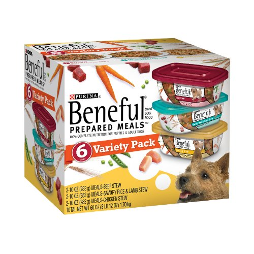 Purina Beneful Prepared Meals Dog Food Variety Pack, 60-Ounce