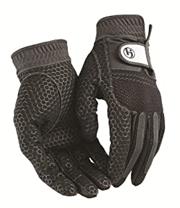 HJ Glove Men's Black Weather Ready Rain Golf Glove, Medium, Pair