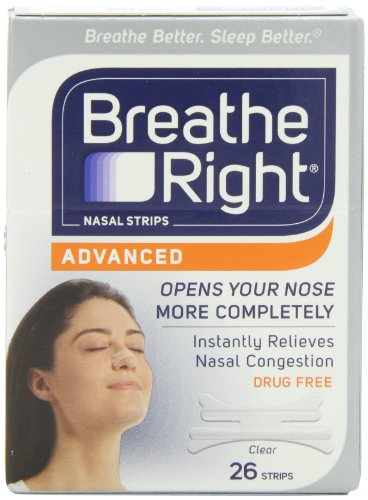 Breathe Right Advanced Nasal Strips, 26 Strips