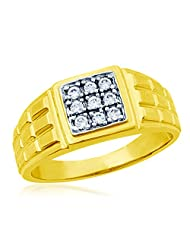Eldora 18 Kt Gold Plated With American Diamond Ring For Men(PGR00011-A)
