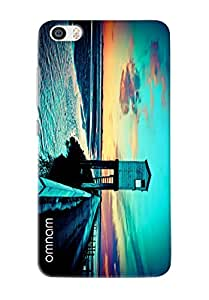 Omnam Sea Tower Printed Designer Back Cover Case For Xiaomi Mi5
