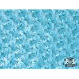 Minky Rosebud TURQUOISE Fabric By the Yard