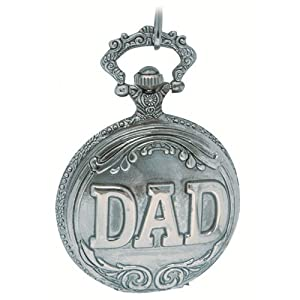 Reflex Gents Engraved Dad Pocket Watch on a 12 Inch Chain 141043SP