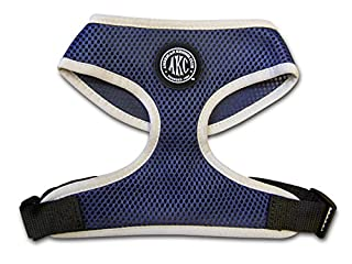 American Kennel Club Nylon Extra Comfort Mesh Harness for Dog, Large, Navy